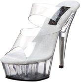 Pleaser USA Women's DELIGHT-602/C/M Platform Sandal,Clear,6 M US