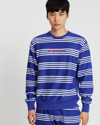 Champion Reverse Weave Terry Script Crew Sweater