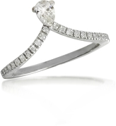 Forzieri White Gold Drop Shaped Diamond Ring