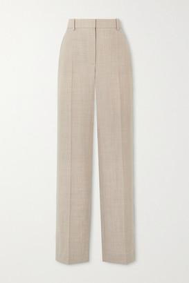 Roksanda Livio Melange Wool Straight-leg Pants - Beige