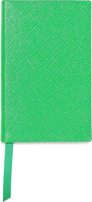 Smythson Wafer Neon Textured-leather Notebook