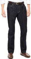 Claiborne Rinse Denim Straight Leg Stretch Jeans