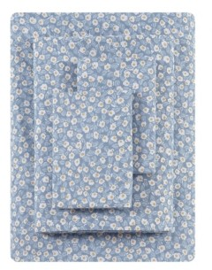 ED Ellen Degeneres Button Floral Percale Full Sheet Set Bedding