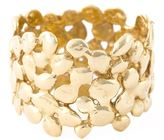 Natasha Collis 18kt yellow gold cobbled ring