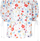 G.V.G.V. printed off shoulder blouse - women - Rayon - 34