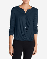 Eddie Bauer Women's Girl On The Go Wrap It Up Top
