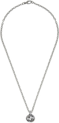 Gucci Silver Interlocking G Chain Necklace
