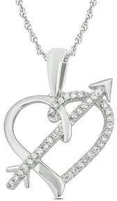 Cali Trove 10kt white gold 1/10ct TDW heart pendant
