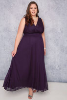 Yours Clothing SCARLETT & JO Purple Marilyn Wrap Front Maxi Dress