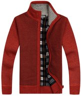 Shengweiao Men's Zip Knitted Cardigan Sweater (3XL, )