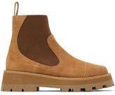 Thumbnail for your product : Jimmy Choo Tan Suede Clayton Boots