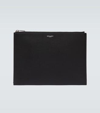 Saint Laurent Rider leather iPad pouch