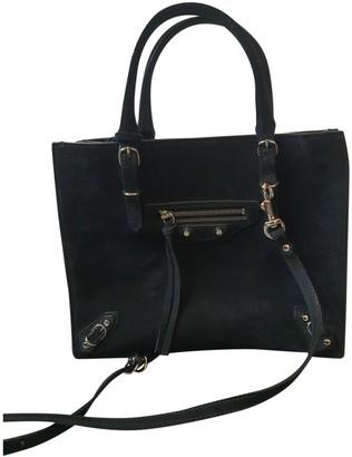 Balenciaga Papier Black Suede Handbags