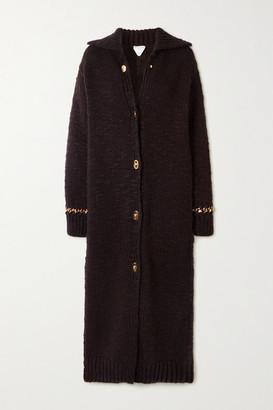 Bottega Veneta Chain-embellished Wool-blend Coat - Dark brown