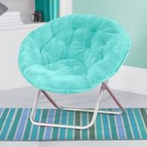 Mainstays Faux-Fur Saucer Chair, Aqua Wind (Wind Aqua)