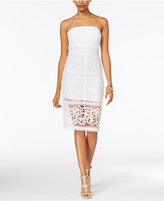 Jump Juniors' Strapless Lace Bodycon Dress