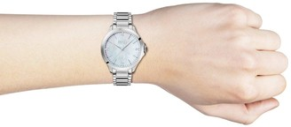 HUGO BOSS Mother of Pearl with Gold Detail and 8 Diamonds Dial Two Tone Stainless Steel Bracelet Ladies Watch