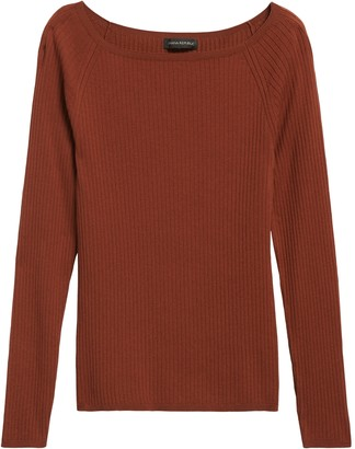 Banana Republic Petite Boat-Neck Sweater Top