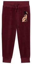 Mini Rodini Rabbit Velour Sweatpants Burgundy