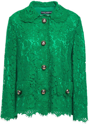 Dolce & Gabbana Cotton-blend Corded Lace Jacket