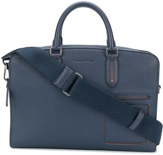 Ermenegildo Zegna Multi-Pocket Leather Briefcase