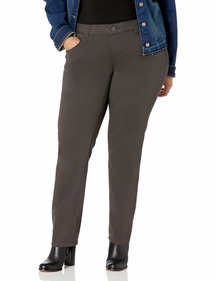 Democracy Women's Plus Size Ab Solution Straight Leg