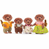 International Playthings Calico Critters Chocolate Labrador Family