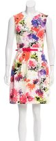 David Meister Floral Printed A-Line Dress