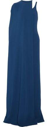 Stella McCartney One-Shoulder Layered Crepe Gown