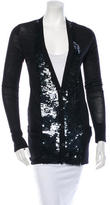 Vera Wang Sequin Wool Cardigan