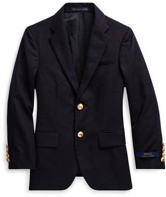Ralph Lauren Wool Brass-Button Sport Coat