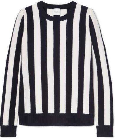 Madeleine Thompson Carinae Striped Cashmere Sweater - Navy
