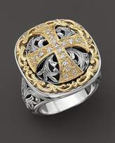 Konstantino Sterling Silver And 18K Gold Diamond Maltese Cross Ring