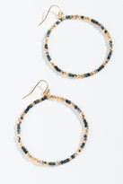 francesca's Genesis Patina Beaded Circle Drop Earrings - Turquoise
