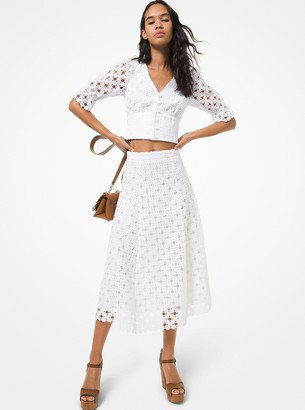 MICHAEL Michael Kors Floral Medallion Lace Skirt