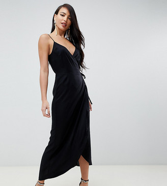 Asos Tall ASOS DESIGN Tall cami wrap maxi dress
