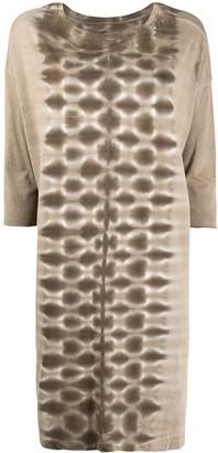 Raquel Allegra Printed Long-Sleeved Dress