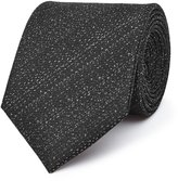 Reiss Ceremony - Textured Silk Tie in Black, Mens
