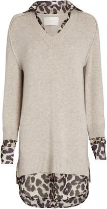 Brochu Walker Leopard Layered Looker Sweater Dress