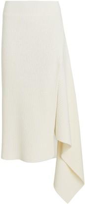 Monse Sliced Rib Knit Merino Wool Skirt
