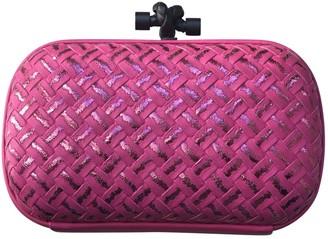 Bottega Veneta Pochette Knot Pink Leather Clutch bags