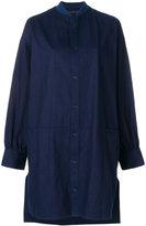 Yohji Yamamoto long buttoned bomber jacket