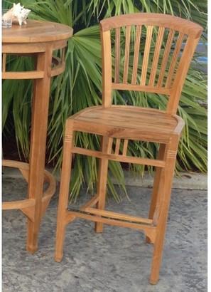 Chic Teak Orleans Teak Wood Indoor/ Outdoor Bar Stool Chair