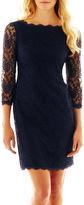 Liliana 3/4-Sleeve Lace Dress