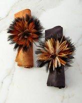Deborah Rhodes Two-Tone Ringtail Feather Napkin Ring