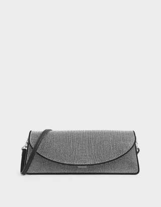 Charles & Keith Embellished Long Clutch