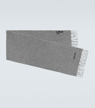 Tom Ford Wool and cashmere houndstooth scarf