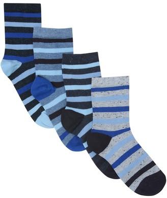 M&Co Stripe socks four pack