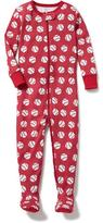 Old Navy Baseball-Print Jersey Sleeper for Toddler & Baby