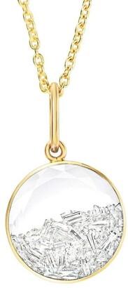 Moritz Glik 18kt Yellow Gold Round Diamond Shaker Pendant Necklace
